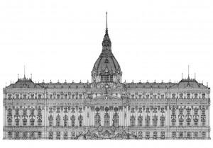 Palast (II) 2012, Editionsdruck 2013 2/5, 21x29 cm, 160 Euro