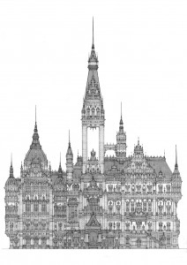 Rathaus 2012, Editionsdruck 2012 1/5, 42 x29 cm, 180 Euro