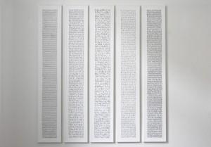 2005, Acryl auf Leinwand,     je 140 x 24 cm