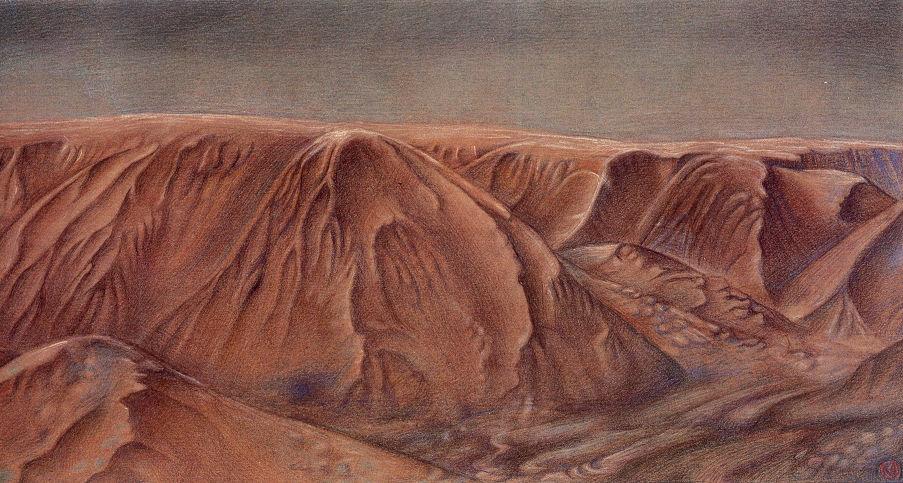 Fernes Gestein, 2005, 14 x 22 cm
